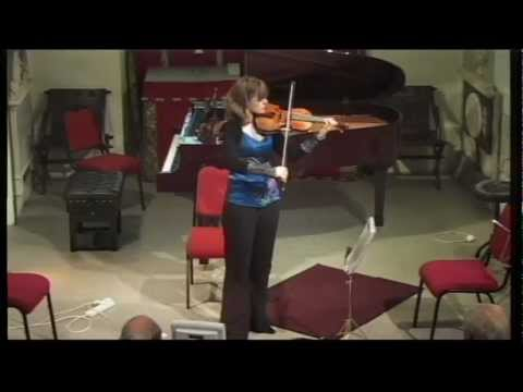 Fenella Humphreys (violin) plays Bach : 'Allemande' from Partita no 2 in D minor