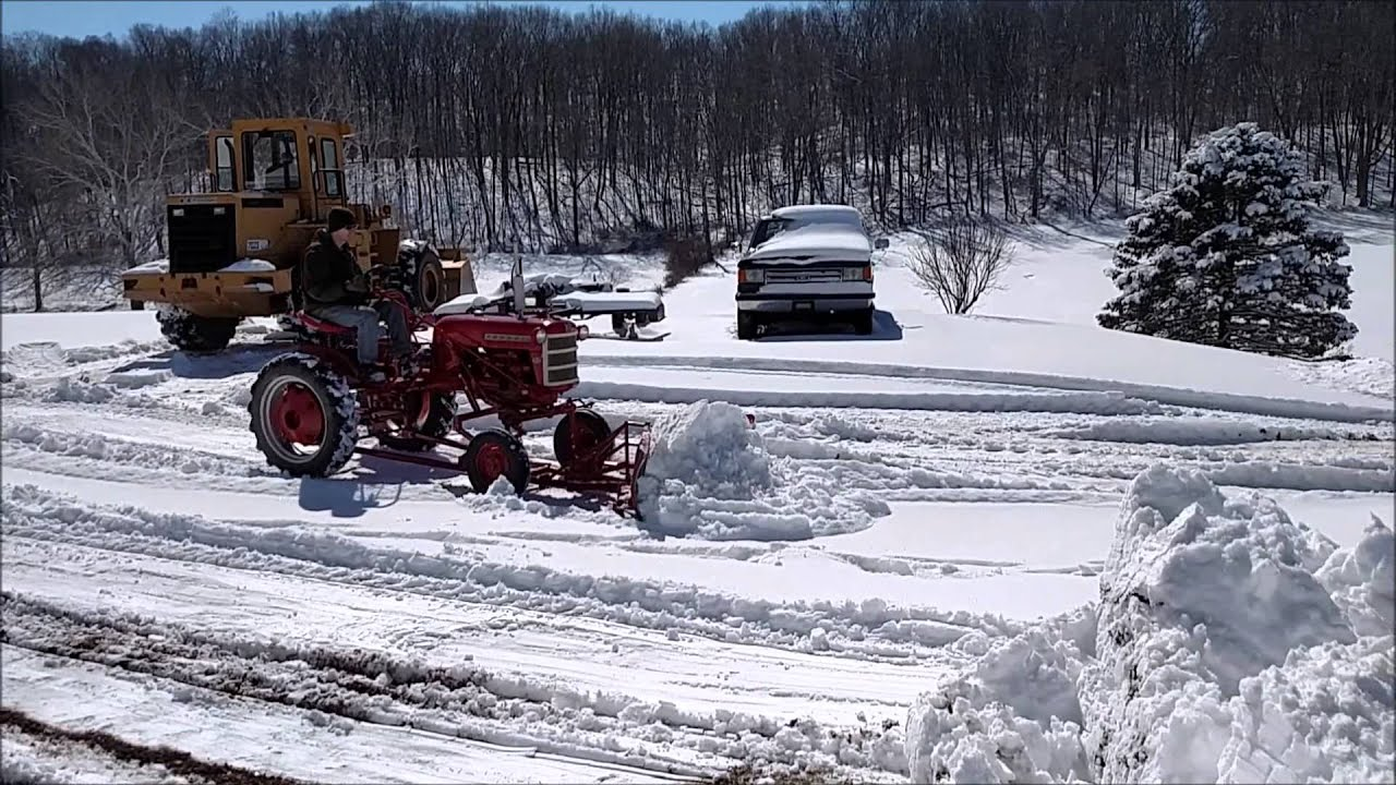 farmall cub v plow snow plowing