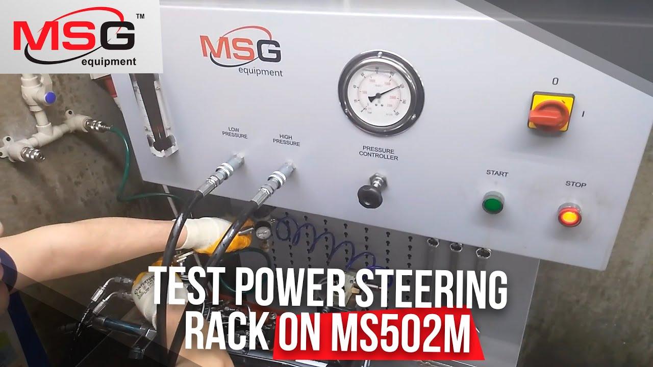Rack Pinion Steering >> How we test power steering rack on MS502M - YouTube