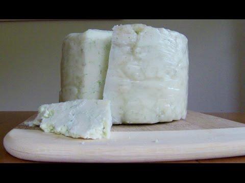 Making Derby Sage Cheese