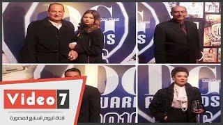 أحمد بدير وأنوشكا وعبد الرحمن أبوزهرة وهانى مهنى فى حفل توزيع جوائز مجلة
