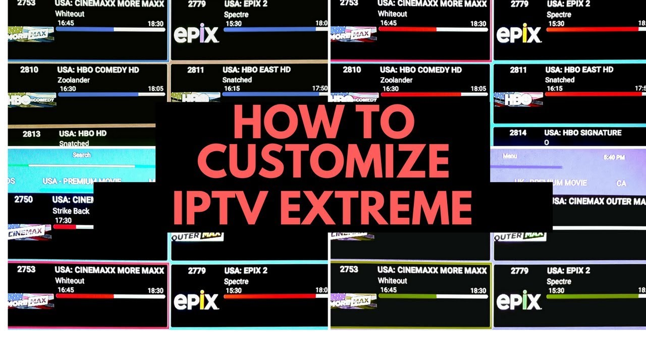 Part 2 (NEW) HOW TO CUSTOMIZE IPTV EXTREME