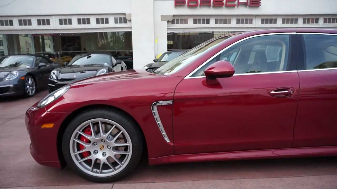 2010 Porsche Panamera Turbo Ruby Red Cognac Cedar Sport