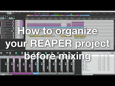 How to organize your REAPER project before mixing