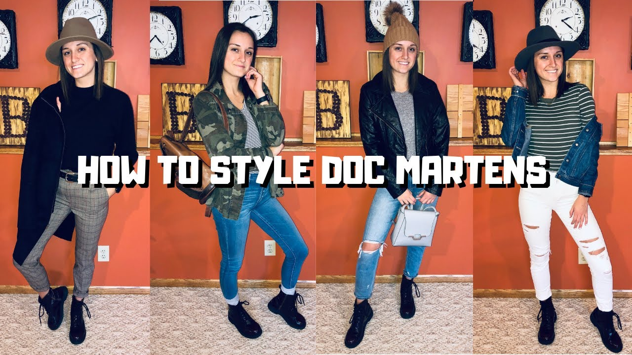 How to Style Doc Martens 6 Ways | Easy Winter Outfit Ideas (Thrifted)
