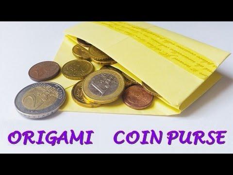 DIY origami COIN PURSE - super easy - YouTube - photo#3