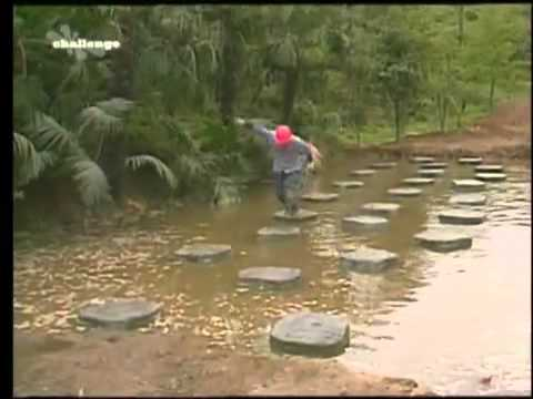 Takeshi's Castle - Skipping Stones - YouTube Stepping Stones