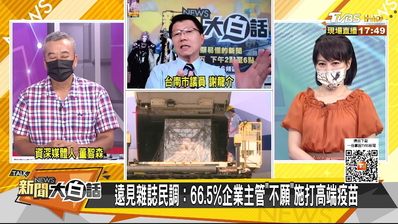 """遠見雜誌民調:66.5%企業主管""""不願""""施打高端疫苗 新聞大白話 20210618"""
