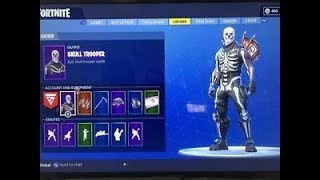 FORTNITE SKULL TROOPER FOR SALE PC TIER 100 SKELETON SKIN CLOSED, REUPLOADED