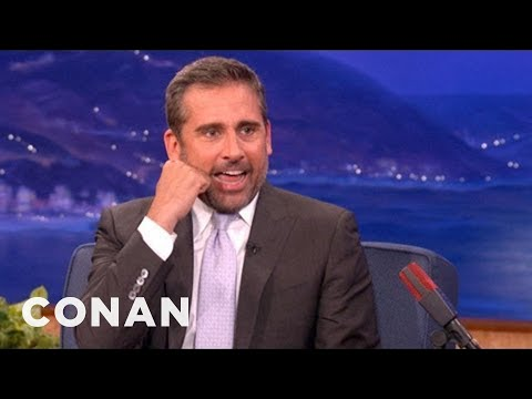 Steve Carell Improvises Some New Characters - CONAN on TBS