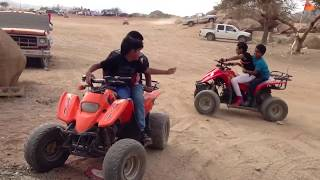 Four wheel bike ride at Taif, KSA