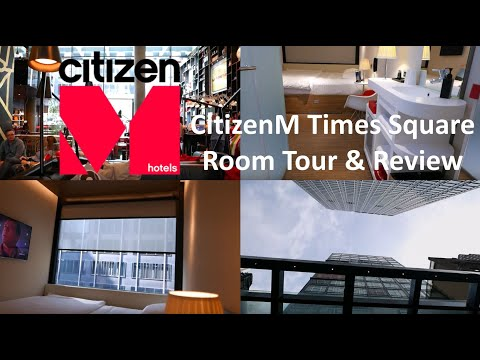 CitizenM Times Square, New York City, Room Tour & Review, Narrated Walk Through, Smallest Hotel Room