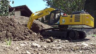 Kobelco SK500 hybrid 1:15 Working on tunnel south portal