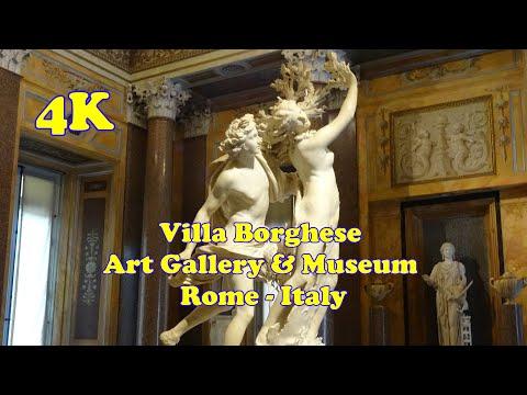 Villa Borghese, Art Gallery & Museum, Rome, Italy - 4K