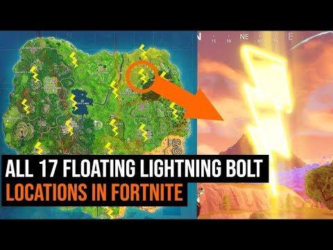 All 17 lightning bolt Locations in Fortnite - Season 5 ...