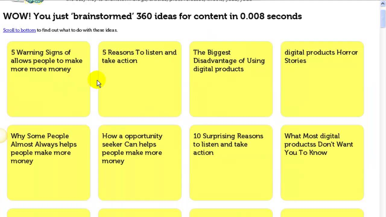 Content Idea Generator A Great Tool For Blog Amp Article