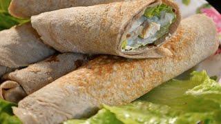 Диетические блинчики с начинкой (шаверма) + сливочный соус! SPORT КУХНЯ Diet spring rolls