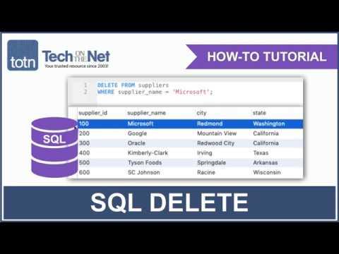 SQL: DELETE Statement