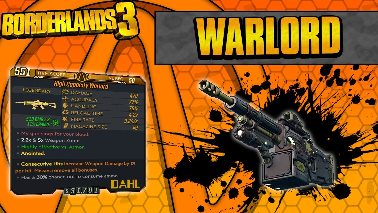 Borderlands 3 | Warlord Legendary Weapon Guide (Consumes Less Ammo!) thumbnail
