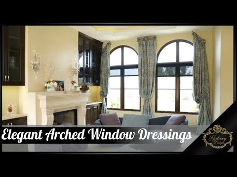 Elegant Arched Window Dressings for A Palos Verdes Beachfront Luxury Home | Galaxy Design Video #159