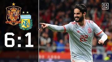 Dreierpack! Isco schießt Gauchos ab: Spanien - Argentinien 6:1 | Highlights | Länderspiele | DAZN