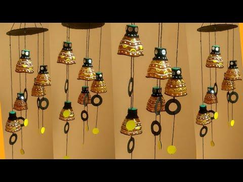 Plastic bottle unique wind chime design l Home decor DIY