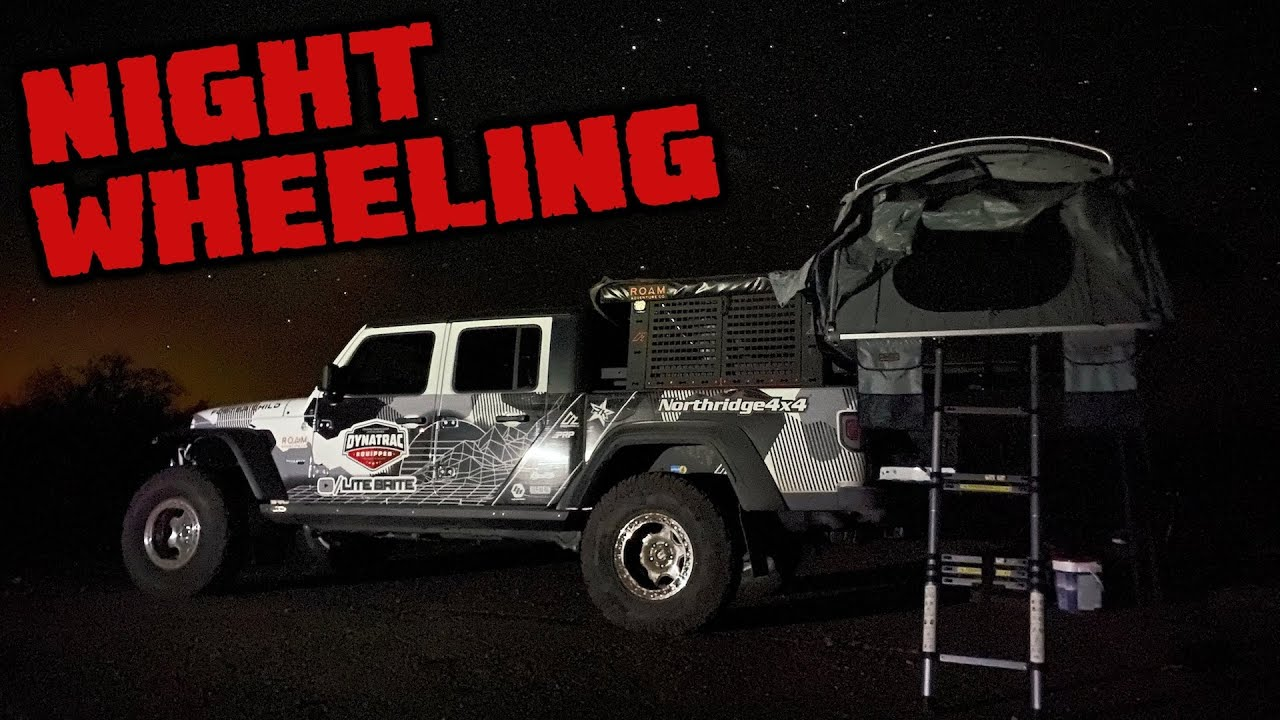 NIGHT WHEELING A JEEP GLADIATOR - Arizona Peace Trail Day 7