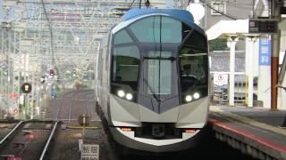 鮮魚列車とすれ違い!近鉄50000系 SV02 (特急しまかぜ号大阪難波行き) 大和八木入線&発車シーン