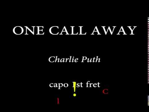 ONE CALL AWAY - CHARLIE PUTH - Easy Chords and Lyrics 1st fret