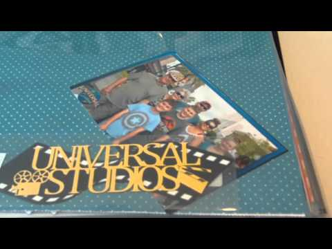 Disney World/Universal Studios - Organizing and Prepping Your scrapbook albums with lots of photos
