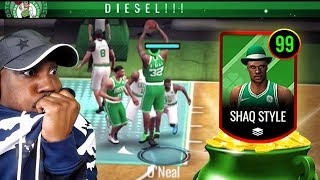 FREE THROW LINE DUNK LEPRECHAUN SHAQ! NBA Live Mobile 20 Season 4 Pack Opening Gameplay Ep. 43