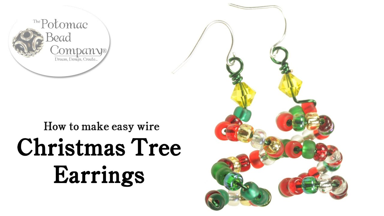 How To Make Easy Wire Christmas Tree Earrings DIY YouTube - Make Christmas Tree Earrings