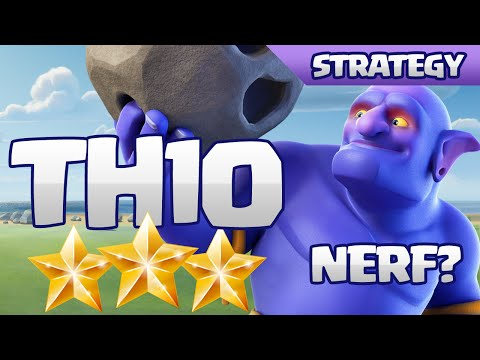 SUPER EASY TH10 3-STARS WITH BOWLERS - NERF NEEDED?