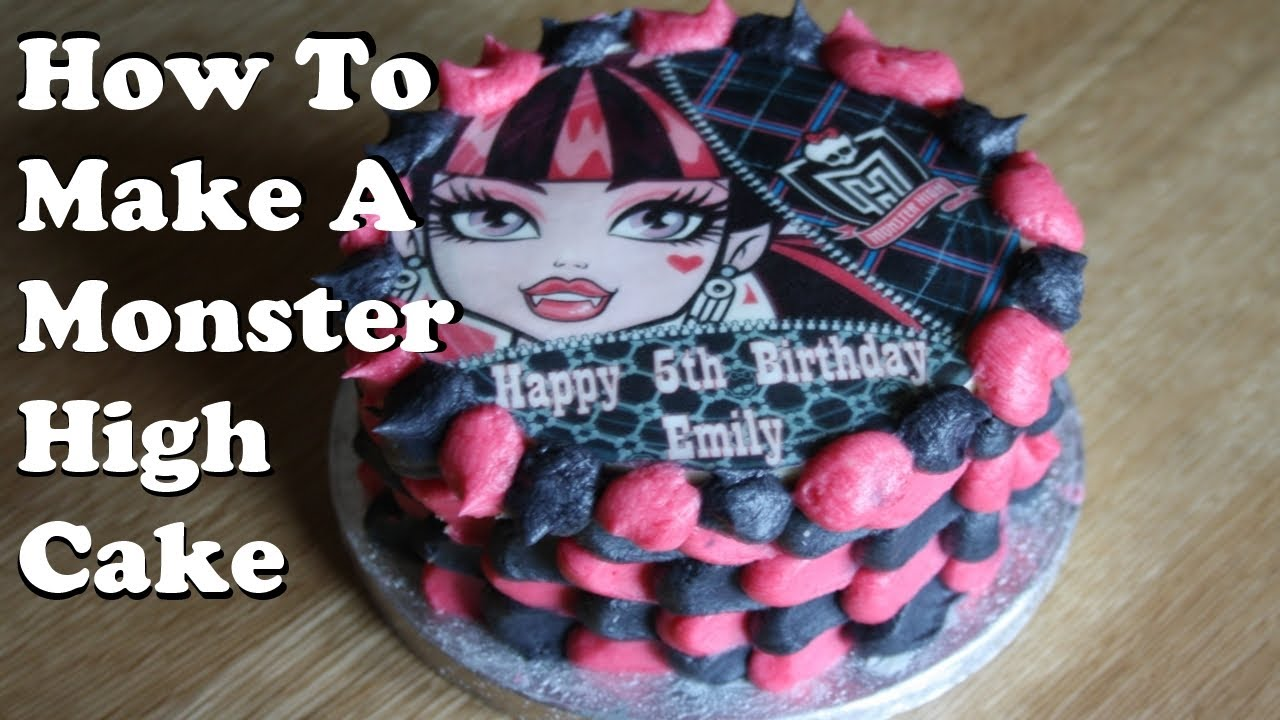 How To Make A Monster High Cake Youtube