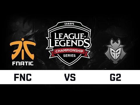 [ITA] EU LCS 2018 - FINALE  - FNC vs G2 - GAME 1