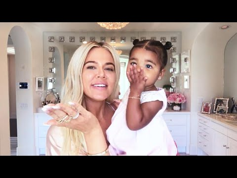 Watch True Thompson Crash Khloe Kardashian's Makeup Tutorial! thumbnail