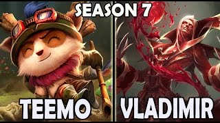 Best Teemo Korea vs Vladimir TOP Ranked Master Pre Season 7