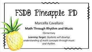 """Math Concepts Through Music and Rhythm"" Strategy"