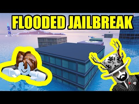Playing FLOODED JAILBREAK MAP! *NEW* Underwater UPDATE | Rob
