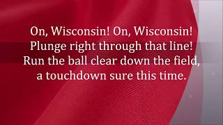 ON, WISCONSIN UNIVERSITY MADISON BADGERS FIGHT SONG LYRICS WORDS FAVORITE TRENDING SING ALONG