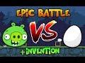PIG VS EGG! - Epic Battle in Bad Piggies + Extra Invention