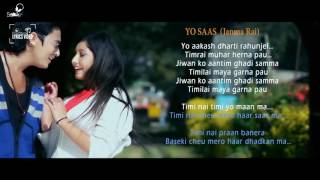Yo Sass - Janma Rai - Lyrics Video | Nepali Pop Song