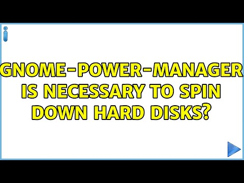 Ubuntu: gnome-power-manager is necessary to spin down hard disks? (2 Solutions!!)