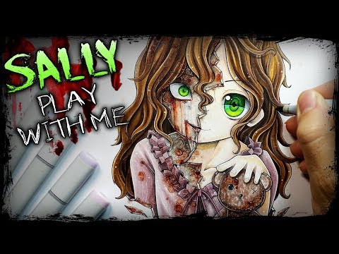 """Play With Me"" Sally Williams (Horror Story) Creepypasta + Anime Drawing"