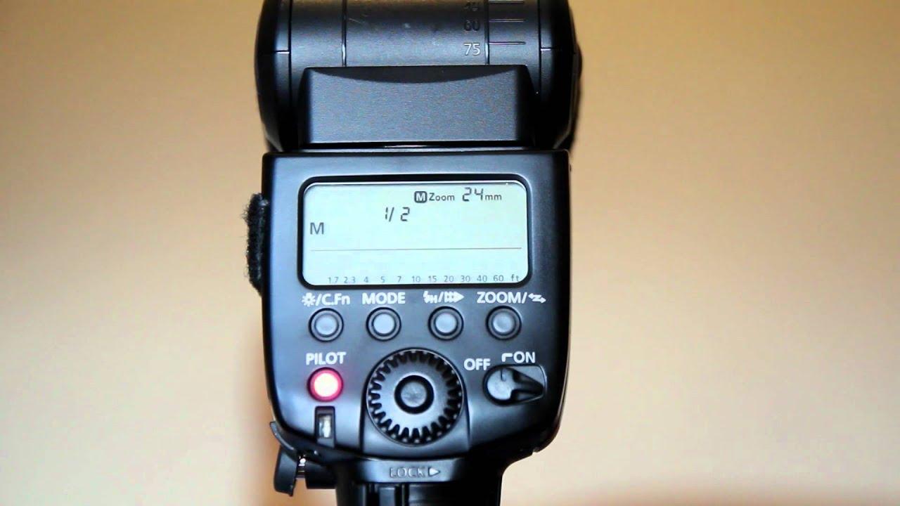Canon 580 ex ii speedlite инструкция