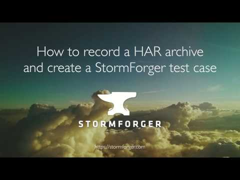 How to record a HAR file and create a StormForger Test Case