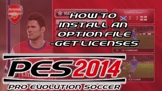 PES 2014 - How To Install An Option File On The PS3 - Get Licenses