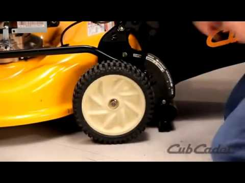 How to Replace a Wheel on a Cub Cadet Walk Behind Lawn Mower