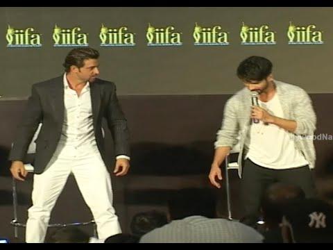 Shahid Kapoor & Hrithik Roshan's Funny Act @ IIFA Weekend 2015 Announcement