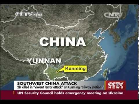 28 killed in violent terror attack at Kunming railway station